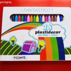Escribanía: CAJA-18 PLASTIDECOR-CONTÉ-SIN CÓDIGO DE BARRAS-NOS-VER FOTOS. Lote 208096210