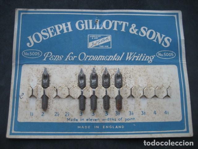 ANTIGUO CARTON PLUMILLAS PLUMAS JOSEPH GILLOTT & SONS. (Plumas Estilográficas, Bolígrafos y Plumillas - Plumillas y Otros Elementos de Escribanía)