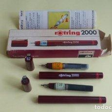 Escribanía: ROTRING SERIE 2000...DOS COMPLETOS 0.2MM Y 0.8 MM..USADOS . CAJA E INSTRUCCIONES..PRECISAN LIMPIEZA.. Lote 209971402