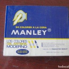 Escribanía: CAJA COLORES A LA CERA MANLEY / 24 DACS - PRECINTADA STOCK DE PAPELERIA / ENVIO GRATIS. Lote 248233765