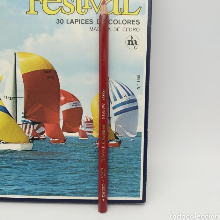 Escribanía: Caja de 30 lápices de colores en madera de cedro FESTIVAL, Masats, referencia 1459, EGB, a estrenar - Foto 4 - 211912901
