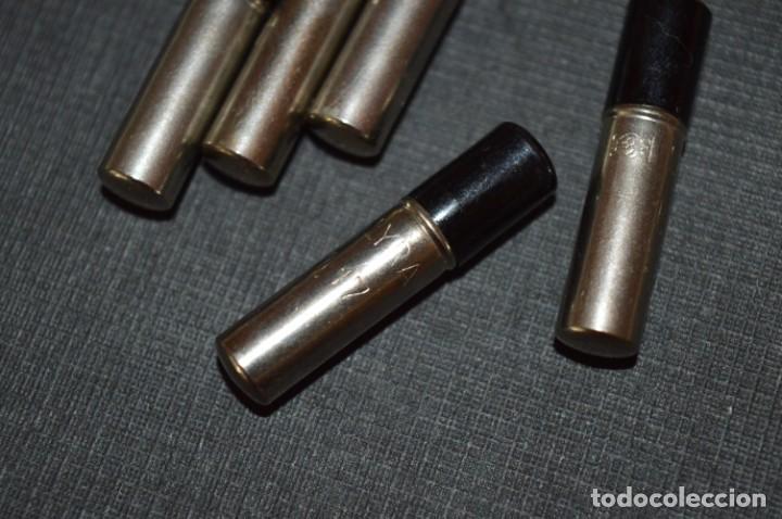Escribanía: LYRA / 5 Tubos metálicos portaminas, con 12 MINAS de GRAFITO 1,17 Mm. / ALEMANIA Años 30/40 - ¡Mira! - Foto 4 - 214888977