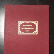 Escribanía: LIBRO DE REGISTRO DE FACTURAS EMITIDAS AÑOS 80. Lote 215288698
