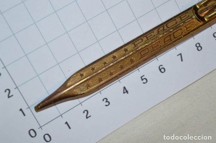 Escribanía: Vintage - Portaminas PEACE / Longitud 12,00 Cm. - ¡Muy antiguo, mira fotos y detalles! - Foto 6 - 215658547