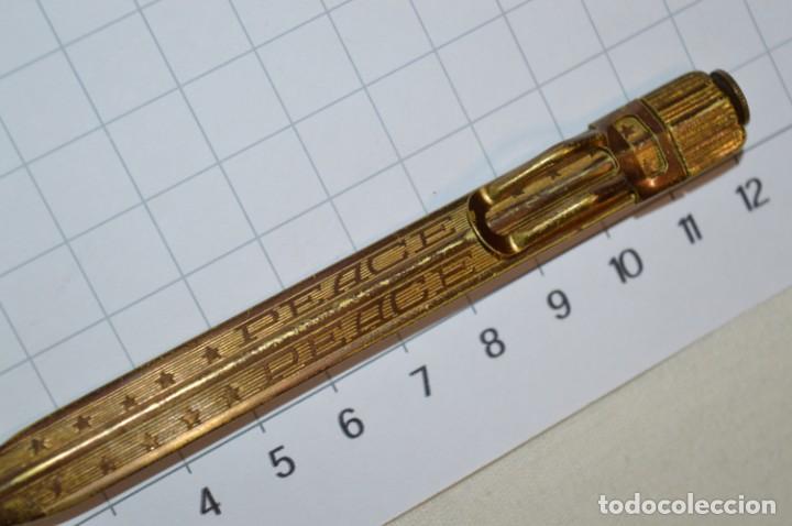 Escribanía: Vintage - Portaminas PEACE / Longitud 12,00 Cm. - ¡Muy antiguo, mira fotos y detalles! - Foto 7 - 215658547