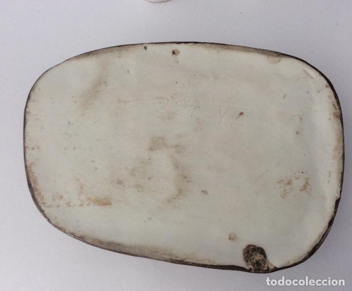 Escribanía: Antigua Escribanía en porcelana Francesa , personajes Jugando a Cartas - Foto 7 - 215873983