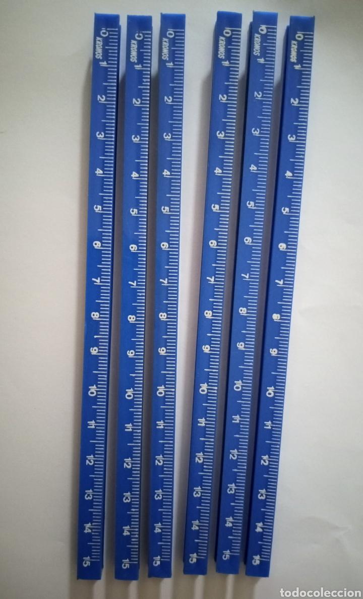 Escribanía: Lote REGLAS CUADRADILLO KRONOS 6 azules - Foto 2 - 216354956