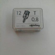 Escribanía: ESTUCHE DE 12 GRAPHOS DE ROTRING - T 0,8 (NUEVAS SIN USO). Lote 218014627