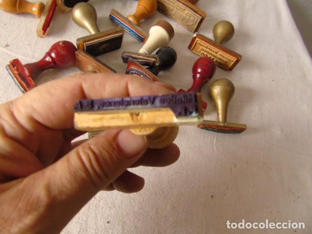 Escribanía: CUÑO SELLO ANTIGUOS LOTE DE LA FOTO - Foto 2 - 218421040