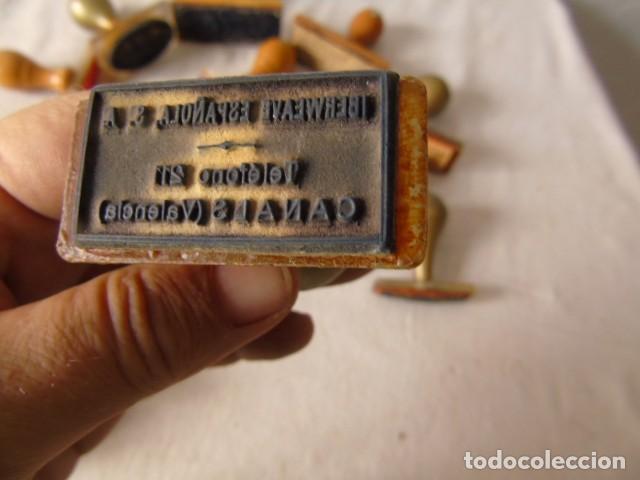 Escribanía: CUÑO SELLO ANTIGUOS LOTE DE LA FOTO - Foto 7 - 218421040