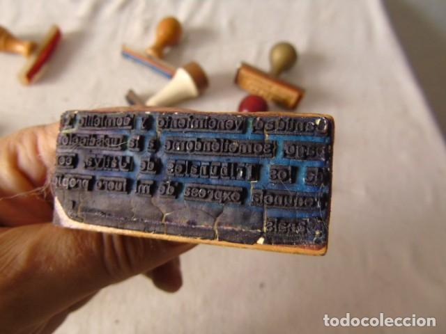 Escribanía: CUÑO SELLO ANTIGUOS LOTE DE LA FOTO - Foto 10 - 218421040