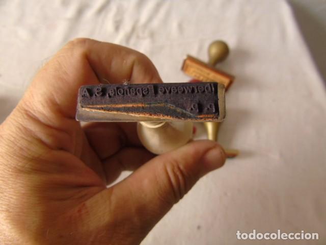 Escribanía: CUÑO SELLO ANTIGUOS LOTE DE LA FOTO - Foto 13 - 218421040