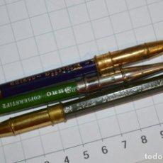 Escribanía: 3 ANTIGUOS LÁPICES, FUNDAS METÁLICAS Y DE LATÓN / NÜRNBERG / ALEMANIA - LYRA / AÑOS 40 ¡MIRA!. Lote 218485217