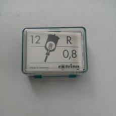 Escribanía: ESTUCHE DE 12 GRAPHOS DE ROTRING - R 0,8 (NUEVAS SIN USO). Lote 218603821