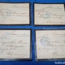 Outils d'Écriture: 4 SOBRES DE PRINCIPIO DEL SIGLO XX CONGRESO DE LOS DIPUTADOS A MANRRESA SELLO LACRE CON ESCUDO REAL.. Lote 218749277