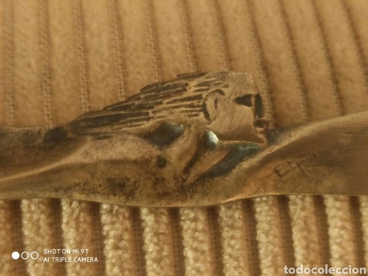 Escribanía: Abrecartas art decó de bronce - Foto 2 - 219014910