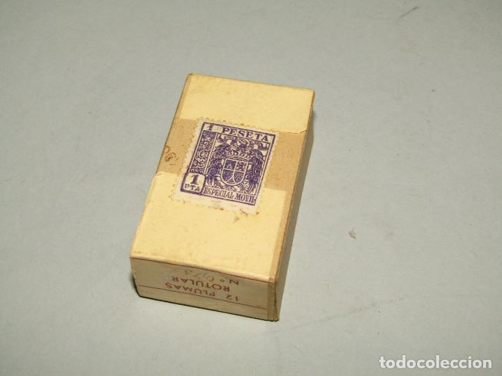 Escribanía: Antigua Caja a Estrenar 12 Plumillas Plumas Rotular Nº 0,75 de Productos ALBE Caja sin Desprecintar - Foto 2 - 224224353