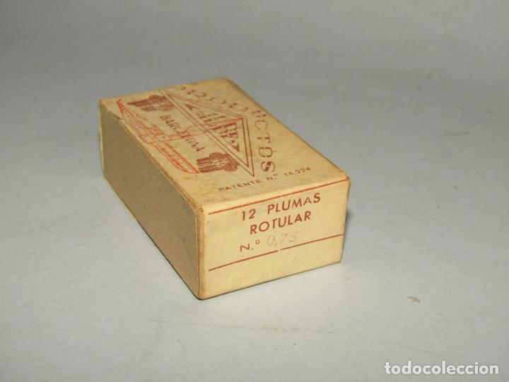 Escribanía: Antigua Caja a Estrenar 12 Plumillas Plumas Rotular Nº 0,75 de Productos ALBE Caja sin Desprecintar - Foto 3 - 224224353