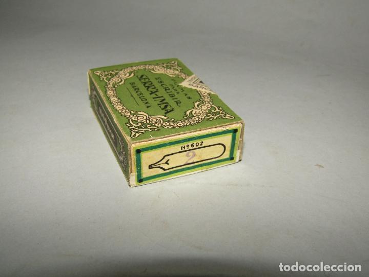 Escribanía: Antigua Caja a Estrenar 100 Plumillas Plumas Nº 6 de SERRA-IMSA Caja sin Desprecintar - Foto 2 - 224225505