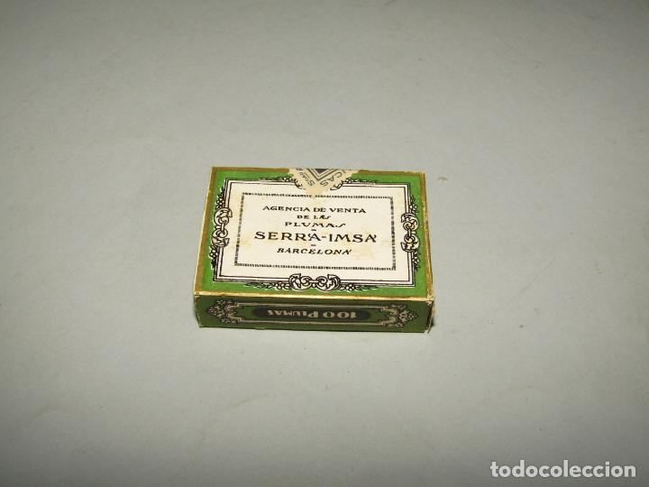 Escribanía: Antigua Caja a Estrenar 100 Plumillas Plumas Nº 6 de SERRA-IMSA Caja sin Desprecintar - Foto 3 - 224225505