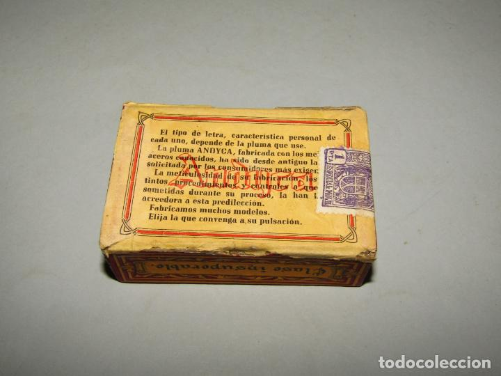 Escribanía: Antigua Caja a Estrenar 100 Plumillas Plumas Clase Insuperable Nº 134 de ANDYCA - sin Desprecintar - Foto 3 - 224243286