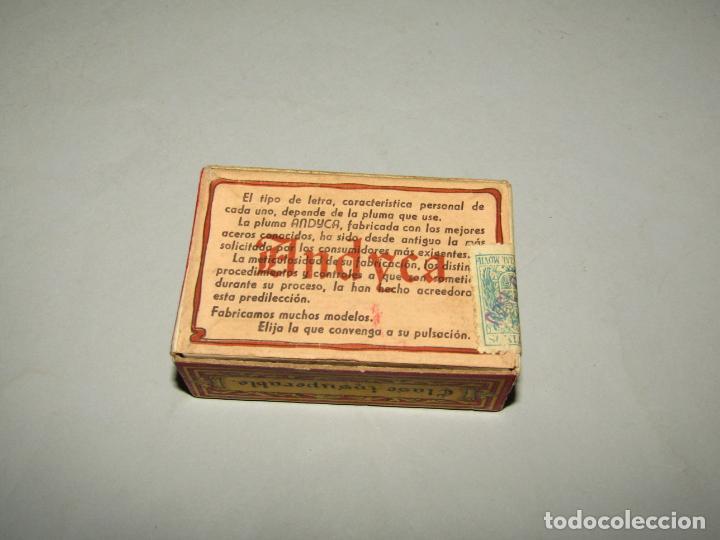 Escribanía: Antigua Caja a Estrenar 100 Plumillas Plumas Clase Insuperable Nº 630 de ANDYCA - sin Desprecintar - Foto 3 - 224243411