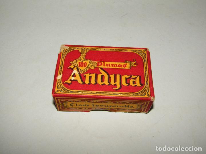 Escribanía: Antigua Caja a Estrenar 100 Plumillas Plumas Clase Insuperable Nº 624 de ANDYCA - sin Desprecintar - Foto 2 - 224243511