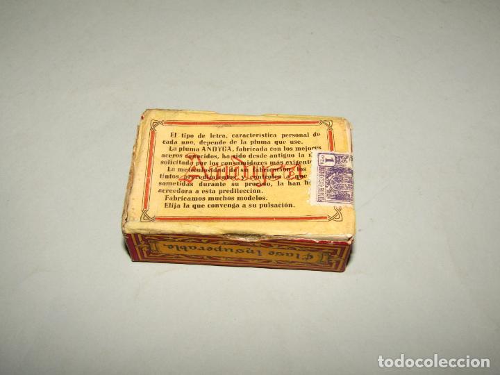 Escribanía: Antigua Caja a Estrenar 100 Plumillas Plumas Clase Insuperable Nº 624 de ANDYCA - sin Desprecintar - Foto 3 - 224243511