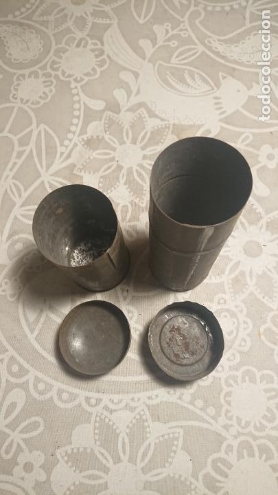 Escribanía: Antiguos 2 tarro / botes / canuto / canutos porta documentos de finales siglo XIX - Foto 4 - 224255477