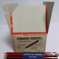 Escribanía: CAJA DE 12 MAZOS DE LAPICES, JOHANN SINDEL, 1808 EXPORT Nº 2, TOTAL 144 LAPICES.. Lote 224319938