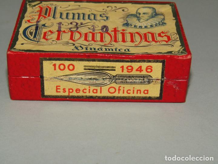 Escribanía: Antigua Caja a Estrenar 100 Plumillas Plumas CERVANTINAS Dinámica Especial Oficina Nº 1946 - Foto 2 - 224471791