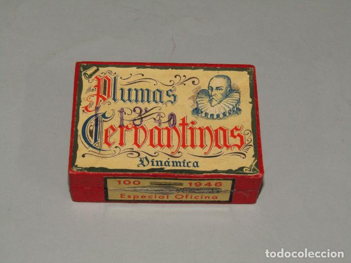 Escribanía: Antigua Caja a Estrenar 100 Plumillas Plumas CERVANTINAS Dinámica Especial Oficina Nº 1946 - Foto 4 - 224471791