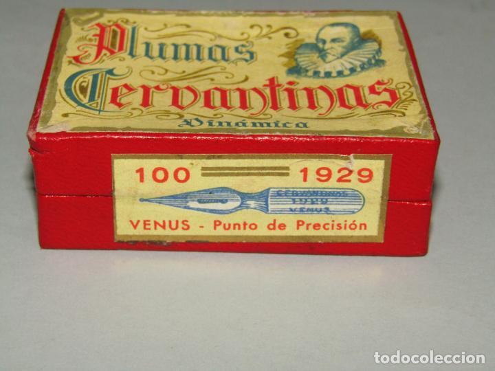 Escribanía: Antigua Caja a Estrenar 100 Plumillas Plumas CERVANTINAS Dinámica VENUS Punto de Precisión Nº 1929 - Foto 2 - 224471941