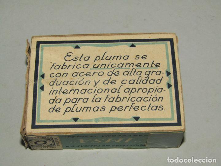 Escribanía: Antigua Caja de Plumillas Plumas Niqueladas Perfecta Nº 15 de IMSA - Foto 4 - 225492950