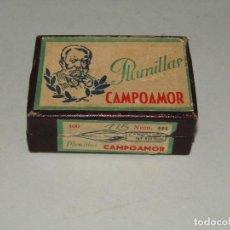 Escribanía: ANTIGUA CAJA DE PLUMILLAS PLUMAS Nº 115 CAMPOAMOR. Lote 225538818