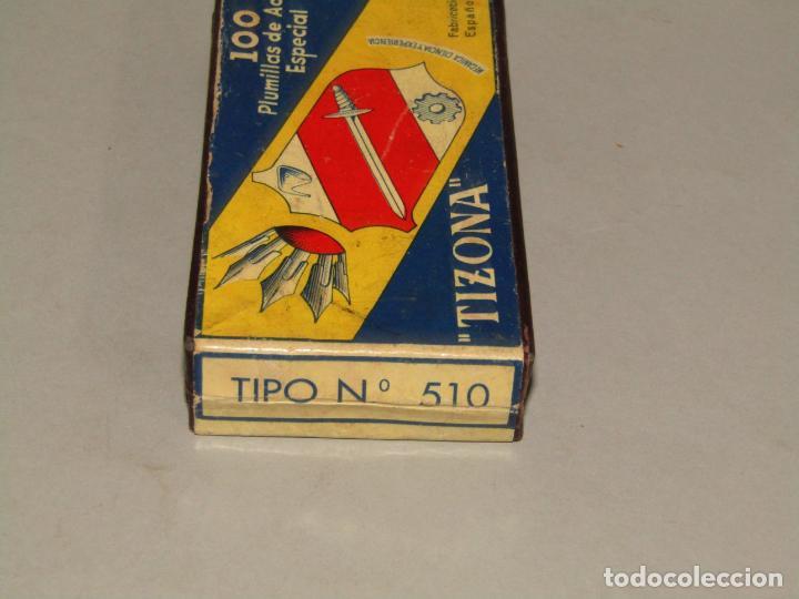 Escribanía: Antigua Caja de Plumillas Plumas Nº 510 TIZONA - Foto 4 - 228198193
