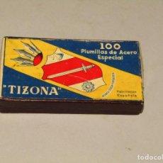 Escribanía: ANTIGUA CAJA DE PLUMILLAS PLUMAS Nº 510 TIZONA. Lote 228198193