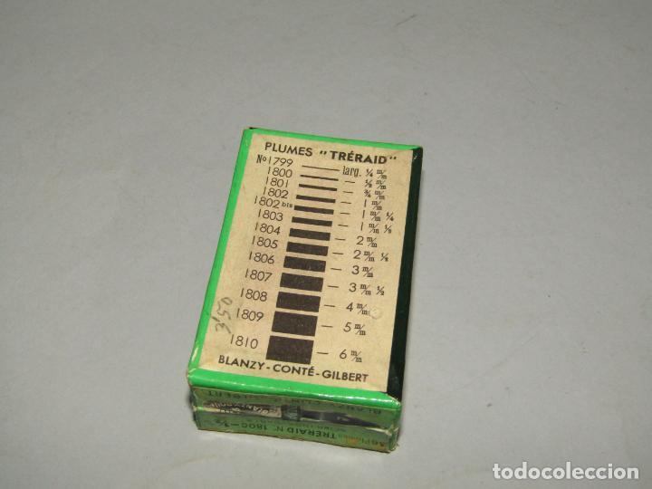 Escribanía: Antigua Caja a Estrenar 36 Plumillas Plumas TRERAID de BLANZY-CONTÉ-GILBERT- sin Desprecintar - Foto 2 - 230321405
