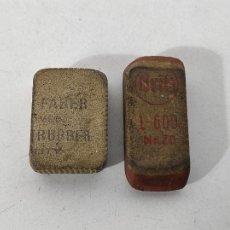 Escribanía: GOMAS DE BORRAR - GOMA FABER TRUBBER - GOMA BRITA L-600 NAZO. Lote 231449510