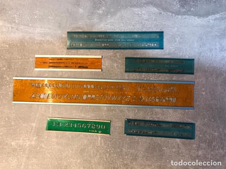 Escribanía: 6 REGLAS STANDARGRAPH/ DFH Y FUNDA - PLANTILLA DE LETRAS, NÚMEROS Y SIGNOS MATEMÁTICOS - Foto 2 - 214064697