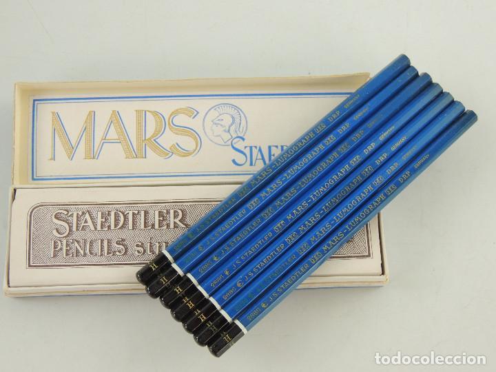 CAJA CON 7 LAPICES STAEDTLER MARS LUMOGRAPH 2886 ALEMANIA (Plumas Estilográficas, Bolígrafos y Plumillas - Plumillas y Otros Elementos de Escribanía)
