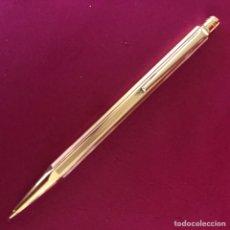 Escribanía: EXCLUSIVO PORTAMINAS CARAN D'ACHE GOLD PLATED. Lote 241422760