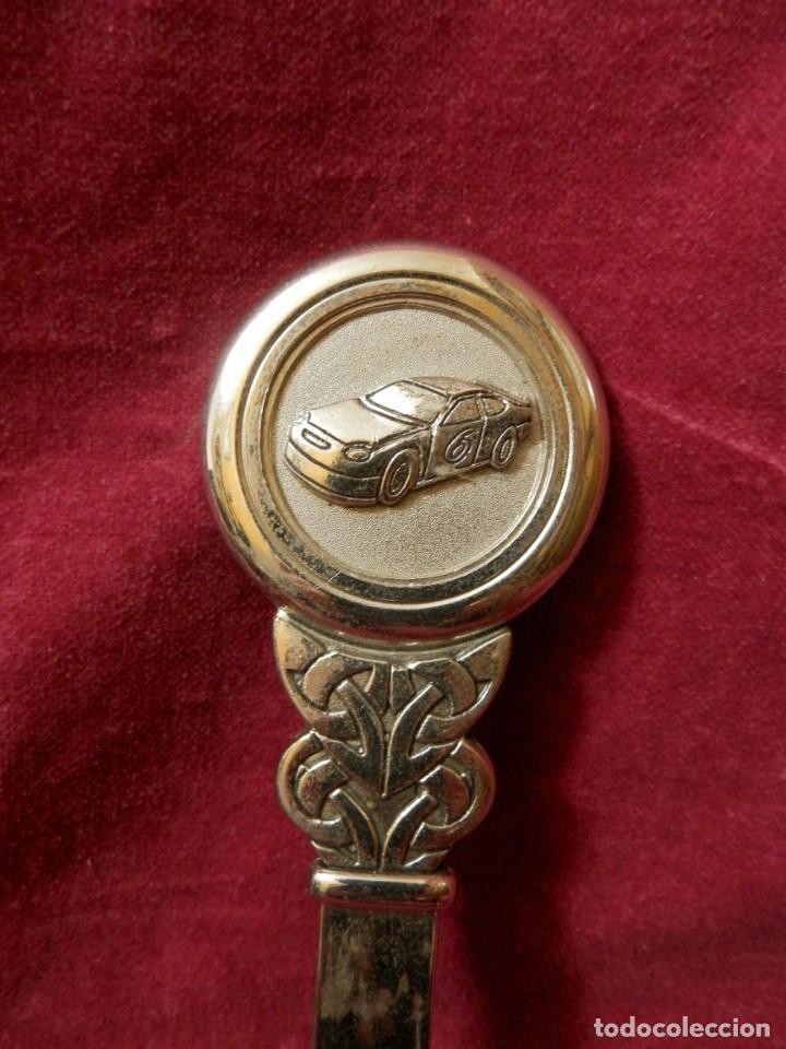 Escribanía: ABRECARTAS PLATEADO. IMAGEN COCHE. 20 X 4 - Foto 4 - 242060100