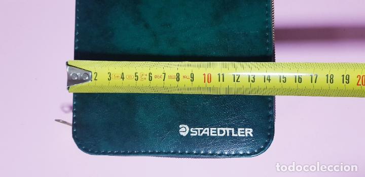 Escribanía: //PLUMIER-STAEDTLER-2 PISOS-VERDE-21x14 cms-FUNDA ORIGINAL-COLECCIONISTAS-VER FOTOGRAFÍAS. - Foto 8 - 243080610
