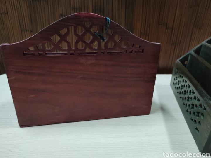 Escribanía: Archivador o porta cartas y papeles para utilizar en despacho o recibidor de casa. - Foto 8 - 243560650