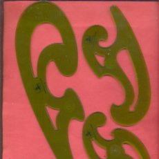 Escribanía: PLANTILLAS DE CURVAS BURMESTER 972, FABER-CASTELL EN SU BLISTER ORIGINAL, VER FOTOS. Lote 246125645