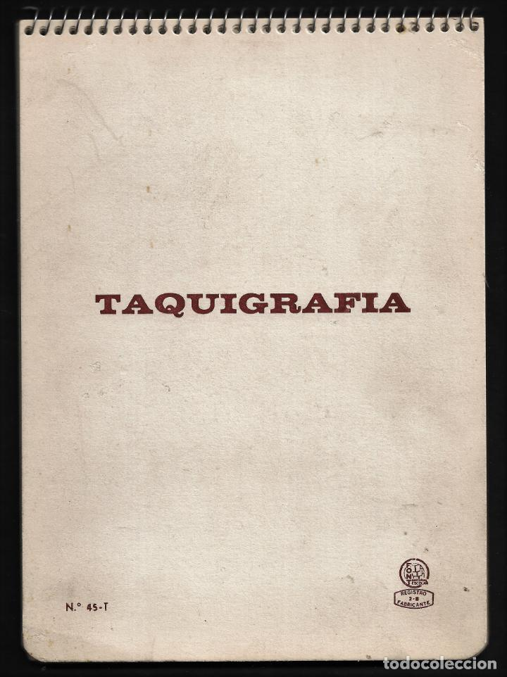ANTIGUO BLOC DE TAQUIGRAFIA - CASA FONT - AÑOS 50 (Plumas Estilográficas, Bolígrafos y Plumillas - Plumillas y Otros Elementos de Escribanía)
