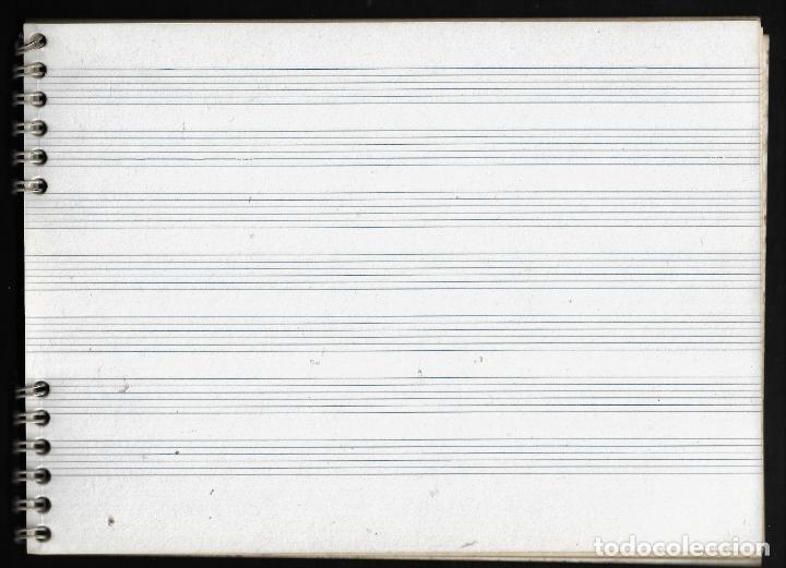 Escribanía: ANTIGUO BLOC DE MUSICA - PARA GUITARRA - ENRI - Foto 2 - 257846030