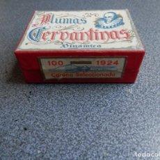 Escribanía: CAJA DE 100 PLUMAS CERVANTINAS CORONA SELECCIONADA SERIE DE 1924, SIN ABRIR - CROMO NÍQUEL. Lote 262687535
