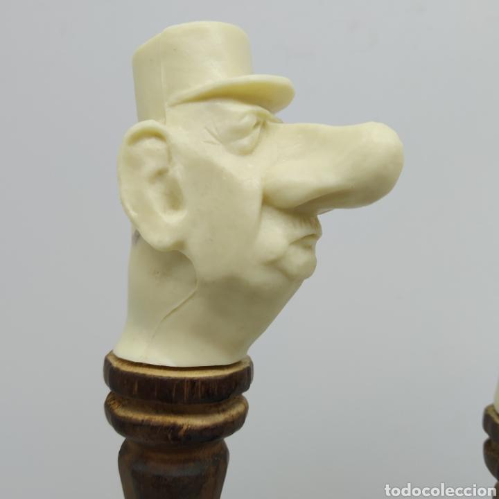 Escribanía: Bolígrafos artesanales caricaturas Charles Gaulle Winston Churchill Richard Nixon años 70 Barcelona - Foto 5 - 262695660